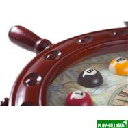 """Часы настенные """"Штурвал"""" 50 см х 50 см, деревянные, интернет-магазин товаров для бильярда Play-billiard.ru. Фото 2"""