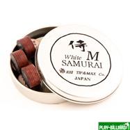 """Наклейка для кия """"Rei Samurai White"""" (M) 14 мм, интернет-магазин товаров для бильярда Play-billiard.ru. Фото 2"""