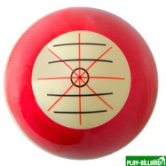 """Classic Шар 57.2 мм """"Training"""" для тренировок, красный, интернет-магазин товаров для бильярда Play-billiard.ru. Фото 2"""
