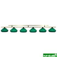 Longoni Лампа на 6 плафонов «Milano» (зеленая, люминесцентная), интернет-магазин товаров для бильярда Play-billiard.ru