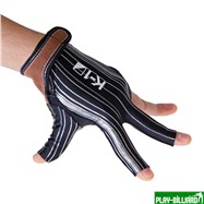Weekend Перчатка бильярдная «K-1» (черная, серебро, вставка кожа), интернет-магазин товаров для бильярда Play-billiard.ru. Фото 3