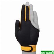 TIGER Перчатка бильярдная «Tiger» (черно-желтая) XL, интернет-магазин товаров для бильярда Play-billiard.ru. Фото 3