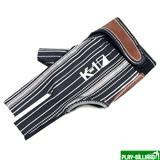 Weekend Перчатка бильярдная «K-1» (черная, серебро, вставка кожа), интернет-магазин товаров для бильярда Play-billiard.ru