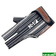 Weekend Перчатка бильярдная «K-1» (черная, серебро, вставка кожа), интернет-магазин товаров для бильярда Play-billiard.ru. Фото 1