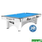 """Бильярдный стол для пула """"Dynamic III"""" 9 ф (матово-белый), интернет-магазин товаров для бильярда Play-billiard.ru"""