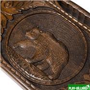 """Нарды резные """"Медведь"""" с ручкой 50, Haleyan, интернет-магазин товаров для бильярда Play-billiard.ru. Фото 8"""