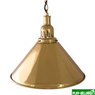 Weekend Лампа на один плафон «Elegance» (золотистая чашка, золотистый плафон D35см), интернет-магазин товаров для бильярда Play-billiard.ru. Фото 1