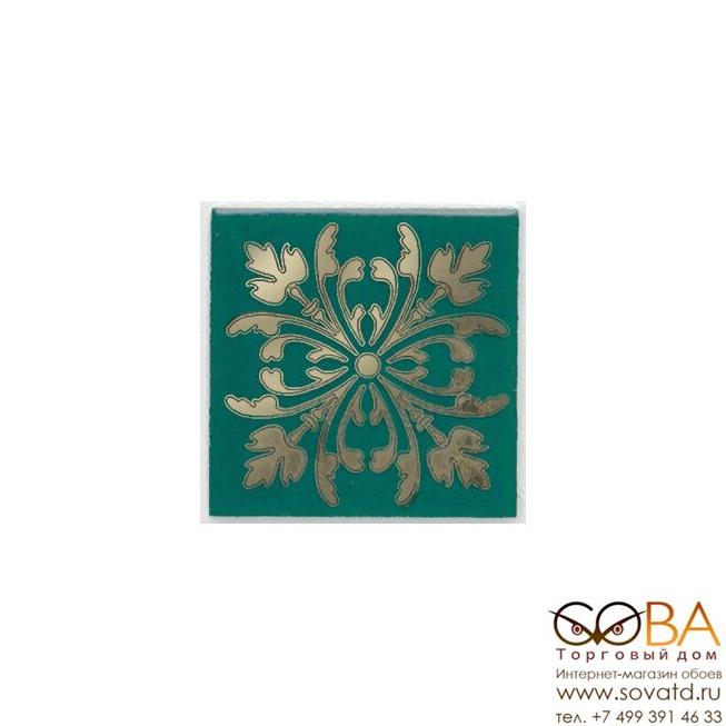 Декор Kerama Marazzi Вставка Клемансо зелёный 4,9х4,9 купить по лучшей цене в интернет магазине стильных обоев Сова ТД. Доставка по Москве, МО и всей России
