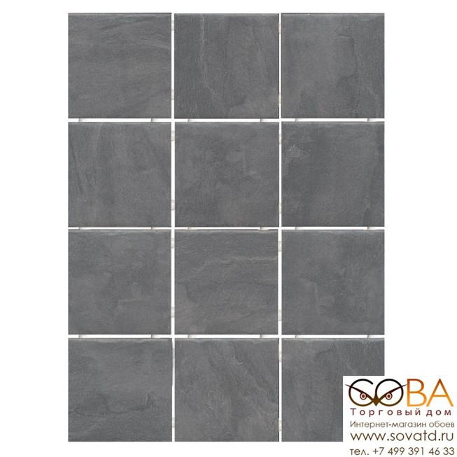 Плитка Kerama Marazzi  Дегре серый темный 9,9х9,9 купить по лучшей цене в интернет магазине стильных обоев Сова ТД. Доставка по Москве, МО и всей России