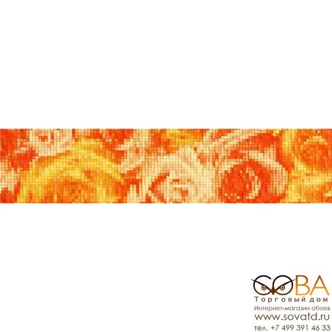 Бордюр Фьюжн  оранжевый 1504-0076 9х40 купить по лучшей цене в интернет магазине стильных обоев Сова ТД. Доставка по Москве, МО и всей России