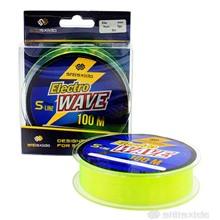 Леска Shii Saido Electro wave, 100 м, 0,286 мм, до 6,01 кг, желтая SSE100-0,286