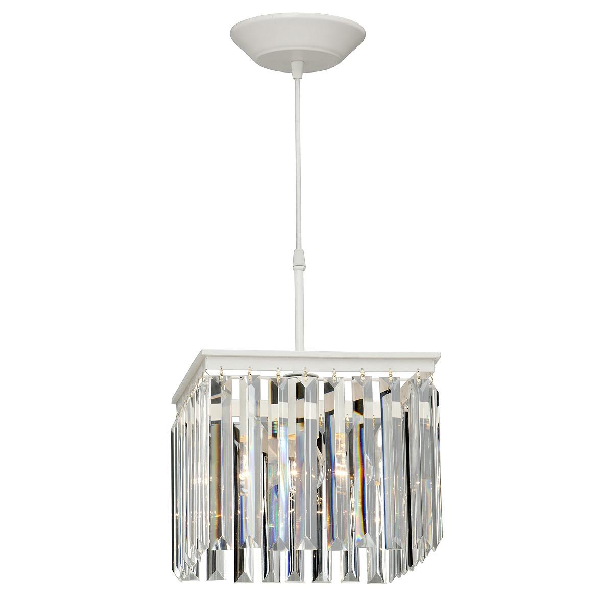 Подвесной светильник прямой хрусталь квадрат