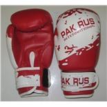 Перчатки боксерские Pak Rus, иск. кожа , 6 OZ, PR-11-012 (красный)