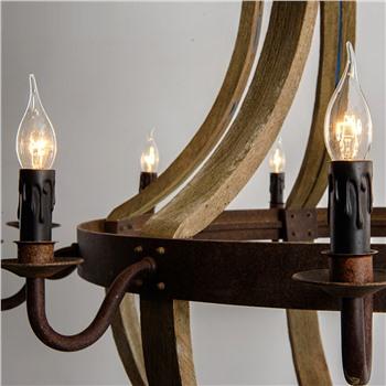 Подвесная деревянная люстра