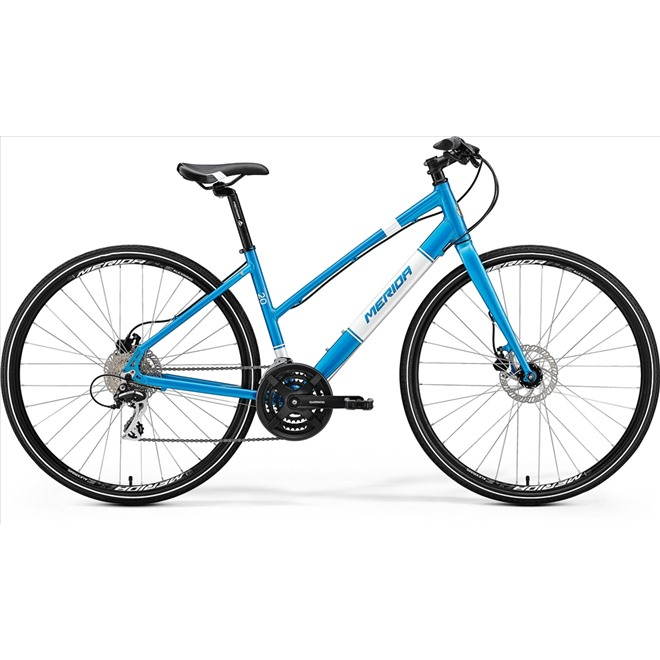 Велосипед Merida Crossway Urban 20D LADY Fed Metallic Blue/White (2017), интернет-магазин Sportcoast.ru