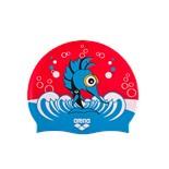 Шапочка для плавания AWT MULTI JR punk/red, силикон, 91925 10