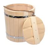 Ведро для бани Банные Штучки С легким паром, с пластиковой вставкой и крышкой, липа 9 л 31202