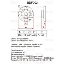 BDF002. Передняя ось. Перфорация + слоты