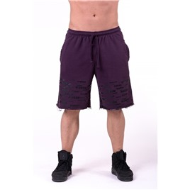 Ne Raw Hem Street Shorts цв.бургундия