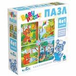 Пазл Baby Puzzle Для мальчиков, 4 в 1, 4/6/9/12 элементов, 04893