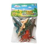 Набор фигурок 1TOY В мире животных Морские животные 6 шт Т50514
