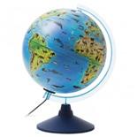 Глобус зоогеографический Globen Классик Евро d250 мм с подсветкой Ке012500270