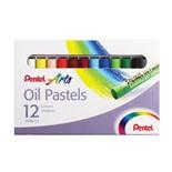 Пастель масляная художественная Pentel Oil Pastels 12 цветов круглое сечение PHN4-12
