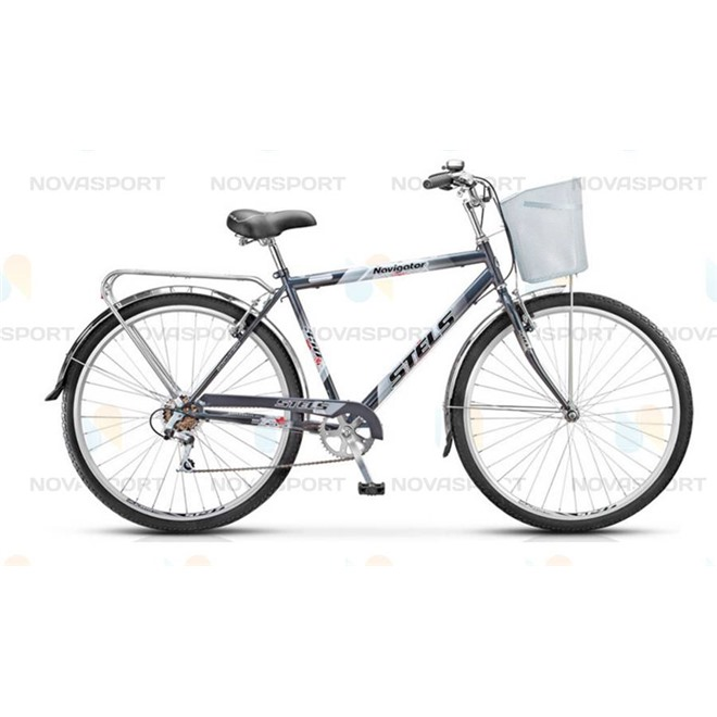 Велосипед Stels Navigator 350 Gent 28 (2016) Синий (с корзиной) , интернет-магазин Sportcoast.ru