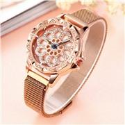 Наручные часы Flower Diamond с крутящимся циферблатом