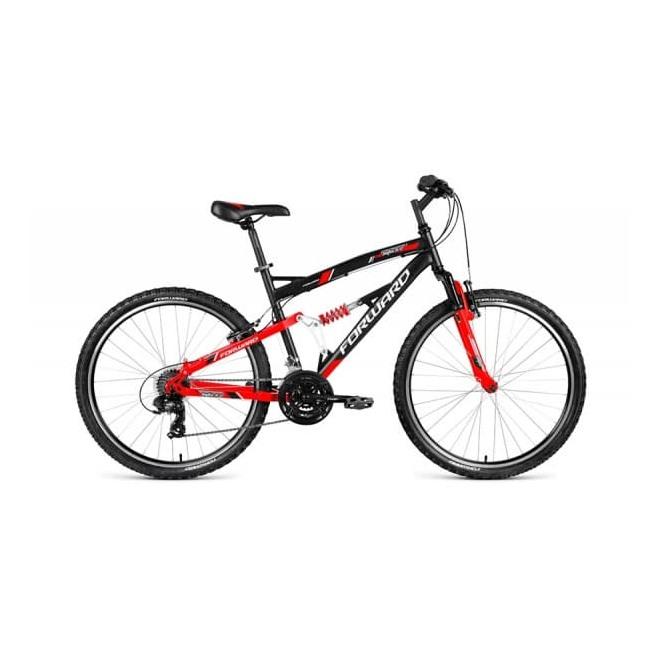 """Велосипед 26"""" Forward Benfica 1.0 Черный/Красный Матовый 18 ск 17-18 г, интернет-магазин Sportcoast.ru"""