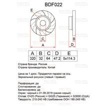 BDF022. Передняя ось. Перфорация + слоты