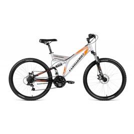 """Велосипед 26"""" Forward Raptor 2.0 Disc Серый/Черный 21 ск 17-18 г, интернет-магазин Sportcoast.ru"""