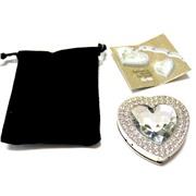 Держатель-крючок для сумок Heart (Сердце) (серебристый), Любая женщина придет в восторг от такого подарка!