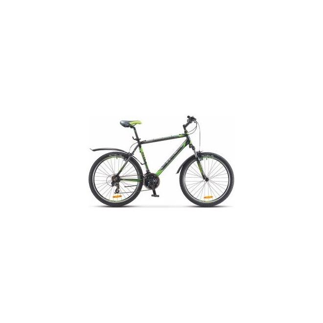 Велосипед Stels Navigator 610 V V010 Черный/Серый/Салатовый , интернет-магазин Sportcoast.ru