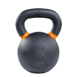 Гиря 28 кг чугунная оранжевый кант