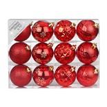 Набор ёлочных шаров INGE'S Christmas Decor 81195G003 d 6 см, красный (12 шт)