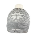 Шапка детская Norveg цвет серый с белыми снежинками (текстильный помпон) 7CWU-053 (L)