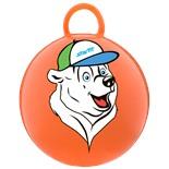 """Мяч-попрыгун """"Медвежонок"""" GB-403, 65 см, с ручкой, оранжевый"""